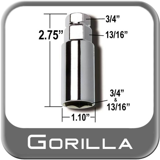 "Gorilla® Thin Wall Lug Adapter 3/4"" & 13/16"" Male x 3/4"" & 13/16"" Female Sold Individually #34-1316DS"