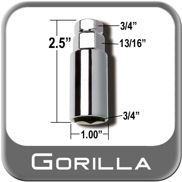 3//4-3//4 Hex Size Gorilla Automotive 3434DS Lug Wrench Adapter Dual Socket