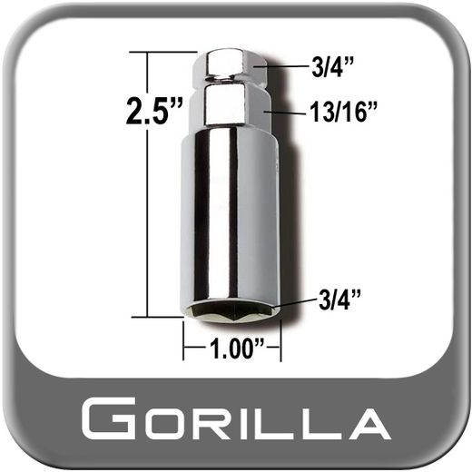 "Gorilla® Thin Wall Lug Adapter 3/4"" & 13/16"" Male x 3/4"" Female Sold Individually #3434DS"