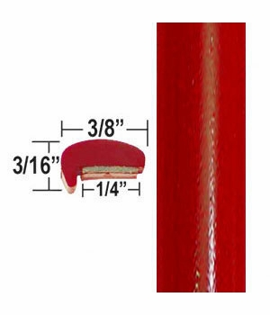 """L"" Style Absolute Red Door Edge Guards 3P0 ( CP16 / PT88 ), Sold by the Foot, ColorTrim Plastics® # 10-16"