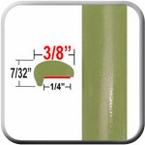 """""""L"""" Style Alien Green / Olive Green Metallic Door Edge Guards ( CP87 ), Sold by the Foot, ColorTrim Plastics® # 10-87"""