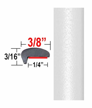 """L"" Style Arctic Frost Door Edge Guards 071 ( CP53 ), Sold by the Foot, ColorTrim Plastics® # 10-53"