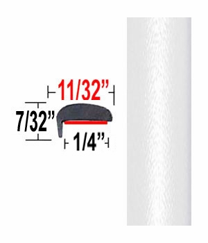 """""""L"""" Style Arctic Frost Pearl Door Edge Guards 071 ( TG071 ), Sold by the Foot, Trim Gard® # NE071-01"""