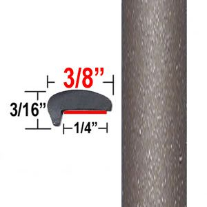 """""""L"""" Style Beige Car Door Edge Molding ( PT45 ), Sold by the Foot, Precision Trim® # 1180-45"""
