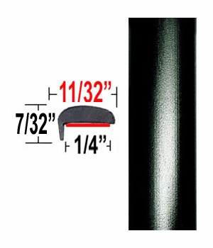 """L"" Style Black Sand Pearl Door Edge Guards 209 ( TG209 ), Sold by the Foot, Trim Gard® # NE209-01"