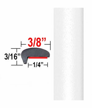 """""""L"""" Style Blizzard Pearl Door Edge Guards 070 ( CP30 ), Sold by the Foot, ColorTrim Plastics® # 10-30"""