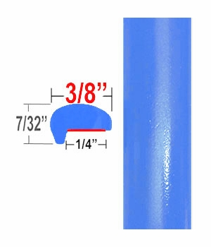 """""""L"""" Style Blue Flame Door Edge Guards 8W9 ( CP101 ), Sold by the Foot, ColorTrim Plastics® # 10-101"""