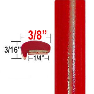 """L"" Style Bright Red Gloss Car Door Guards ( PT61 ), Sold by the Foot, Precision Trim® # 1180-61"