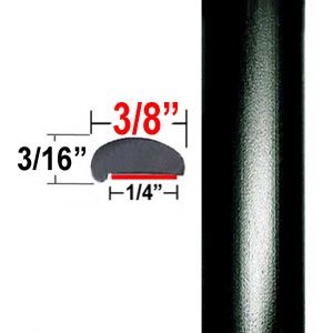 """L"" Style Black Car Door Guards ( PK01 ), Sold by the Foot, Cowles® # 39-501"