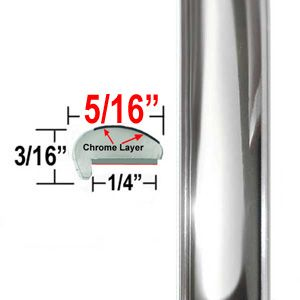 """""""L"""" Style Chrome Car Door Guards Sold by the Foot, Cowles® # 39-512"""