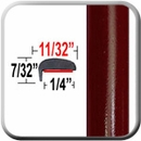 """L"" Style Crystal Red Tintcoat Door Edge Guards 089 ( TG089 ), Sold by the Foot, Trim Gard® # NE089-01"