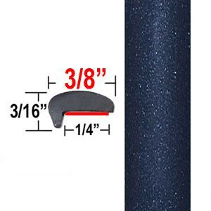 """""""L"""" Style Dark Blue Car Door Guards ( PT64 ), Sold by the Foot, Precision Trim® # 1180-64"""