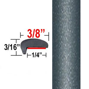 """L"" Style Dark Gray Car Door Guards ( PT84 ), Sold by the Foot, Precision Trim® # 1180-84"
