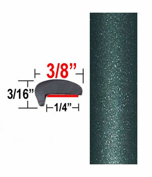 """""""L"""" Style Dark Green Gray Metallic Car Door Guards ( PT27 ), Sold by the Foot, Precision Trim® # 1180-27"""