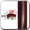 """L"" Style Dark Red Car Door Guards ( PT72 ), Sold by the Foot, Precision Trim® # 1180-72"