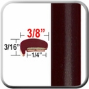 """L"" Style Deep Brown Metallic Door Edge Guards ( CP77 ), Sold by the Foot, ColorTrim Plastics® # 10-77"