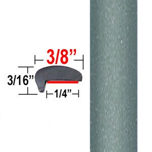 """""""L"""" Style Aloe Green Door Edge Guards 776 ( CP31 ), Sold by the Foot, ColorTrim Plastics® # 10-31"""