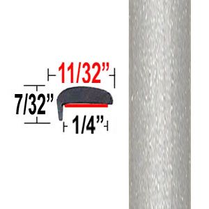 """""""L"""" Style Classic Silver Mica Door Edge Guards 1F7 ( TG1F7 ), Sold by the Foot, Trim Gard® # NE1F7-01"""