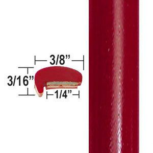 """L"" Style Barcelona Red Door Edge Guards 3R3 ( CP19 ), Sold by the Foot, ColorTrim Plastics® # 10-19"