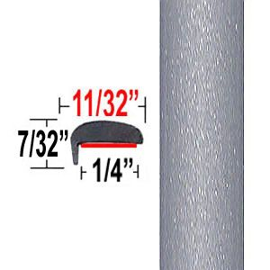"""L"" Style Ingot Silver Metallic Door Edge Guards 0UX ( TG0UX ), Sold by the Foot, Trim Gard® # NE0UX-01"