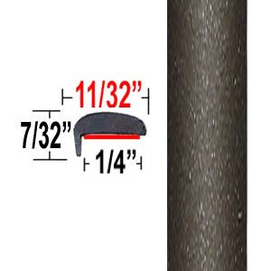 """""""L"""" Style Pyrite Mica Door Edge Guards 4T3 ( TG4T3 ), Sold by the Foot, Trim Gard® # NE4T3-01"""