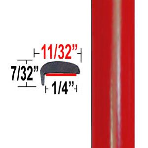 """""""L"""" Style Radiant Red Door Edge Guards 3L5 ( TG3L5 ), Sold by the Foot, Trim Gard® # NE3L5-01"""