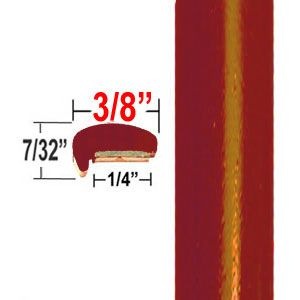 """""""L"""" Style Light Orange Red Metallic Door Edge Guards ( CP70 ), Sold by the Foot, ColorTrim Plastics® # 10-70"""