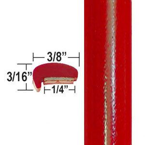 """""""L"""" Style Radiant Red Door Edge Guards 3L5 ( CP42 ), Sold by the Foot, ColorTrim Plastics® # 10-42"""