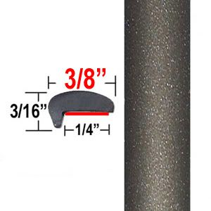 """""""L"""" Style Gray Brown Green Car Door Guards ( PT25 ), Sold by the Foot, Precision Trim® # 1180-25"""