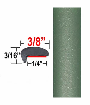 """""""L"""" Style Green Car Door Guards ( PT15 ), Sold by the Foot, Precision Trim® # 1180-15-01"""