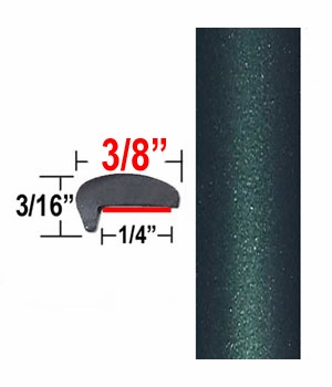 """""""L"""" Style Dark Green Car Door Guards ( PT92 ), Sold by the Foot, Precision Trim® # 1180-92"""