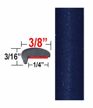 """L"" Style Indigo Ink Door Edge Guards 8P4 ( CP22 ), Sold by the Foot, ColorTrim Plastics® # 10-22"