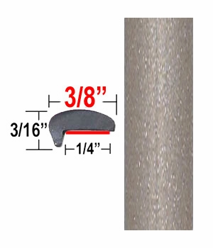 """""""L"""" Style Light Olive/Tan Metallic Door Edge Guards ( CP47 ), Sold by the Foot, ColorTrim Plastics® # 10-47"""