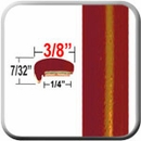 """L"" Style Light Orange Red Metallic Door Edge Guards ( CP70 ), Sold by the Foot, ColorTrim Plastics® # 10-70"