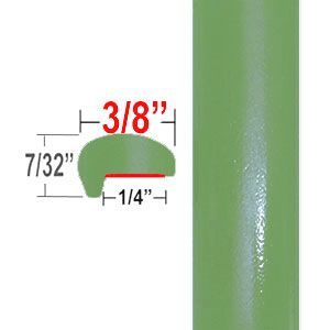 """""""L"""" Style Lime Green Door Edge Guards ( CP96 ), Sold by the Foot, ColorTrim Plastics® # 10-96"""