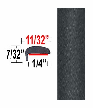 """""""L"""" Style Magnetic Gray Metallic Door Edge Guards 1G3 ( TG1G3 ), Sold by the Foot, Trim Gard® # NE1G3-01"""