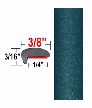 """""""L"""" Style Medium Blue-Green Metallic Door Edge Guards ( CP72 ), Sold by the Foot, ColorTrim Plastics® # 10-72"""