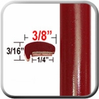 """L"" Style Medium Red Car Door Guards ( PT42 ), Sold by the Foot, Precision Trim® # 1180-42"
