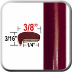 """L"" Style Medium Red Car Door Guards ( PT44 ), Sold by the Foot, Precision Trim® # 1180-44"