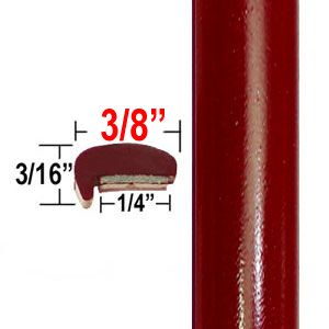 """L"" Style Medium Red Car Door Guards ( PT55 ), Sold by the Foot, Precision Trim® # 1180-55"