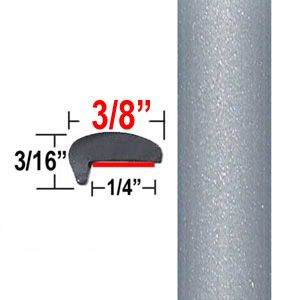 """L"" Style Medium Silver Metallic Car Door Guards ( PT22 ), Sold by the Foot, Precision Trim® # 1180-22"