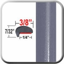 """""""L"""" Style Medium Slate Gray Metallic Door Edge Guards ( CP66 ), Sold by the Foot, ColorTrim Plastics® # 10-66"""