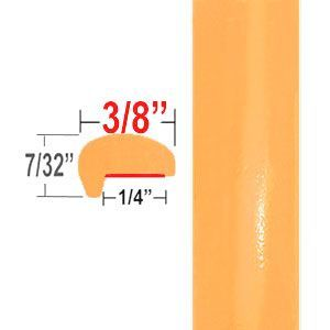 """""""L"""" Style Orange Door Edge Guards ( CP95 ), Sold by the Foot, ColorTrim Plastics® # 10-95"""