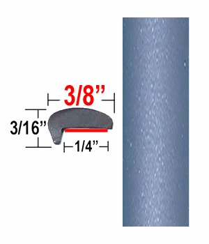 """""""L"""" Style Pacific Blue Door Edge Guards 8R3 ( CP61 ), Sold by the Foot, ColorTrim Plastics® # 10-61"""