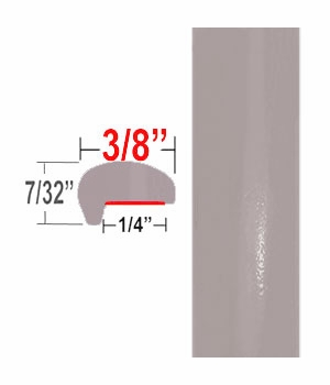 """""""L"""" Style Quicksand Beige Door Edge Guards 4V6 ( CP97 ), Sold by the Foot, ColorTrim Plastics® # 10-97"""