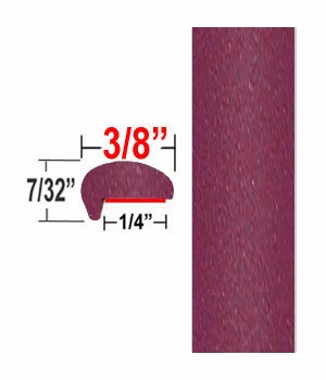 """L"" Style Ruby Flare Pearl Door Edge Guards 3T3 ( CP94 ), Sold by the Foot, ColorTrim Plastics® # 10-94"