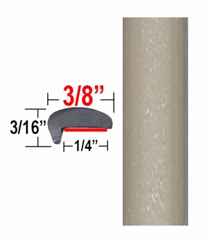 """""""L"""" Style Sandy Beach Door Edge Guards 4T8 ( CP59 / PT93 ), Sold by the Foot, ColorTrim Plastics® # 10-59"""
