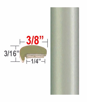 """""""L"""" Style Silver Pine Door Edge Guards 6U0 ( CP36 ), Sold by the Foot, ColorTrim Plastics® # 10-36"""