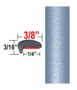 """""""L"""" Style Sky Blue, Blue Whisper Door Edge Guards 8S4 ( CP24 / PT30 ), Sold by the Foot, ColorTrim Plastics® # 10-24"""
