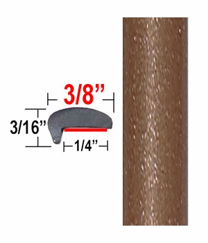 """""""L"""" Style Sunset Bronze Door Edge Guards 4U3 ( CP71 ), Sold by the Foot, ColorTrim Plastics® # 10-71"""